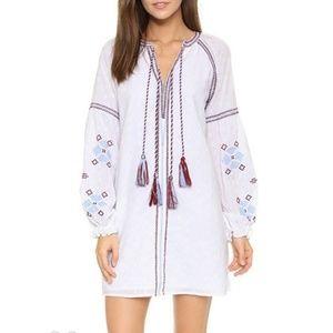Embroidered Tassle Mini Dress/Tunic